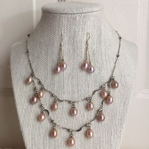 925 Silver Pearls Set